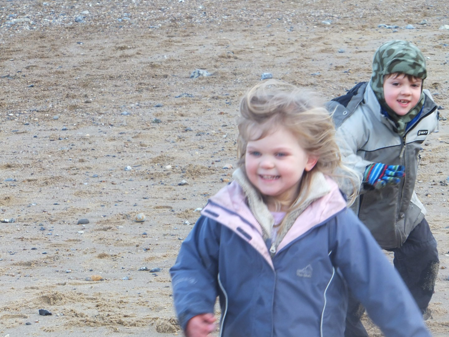 Rockpooling is great and you can also ahve a run around the beach to stay warm in colder weather