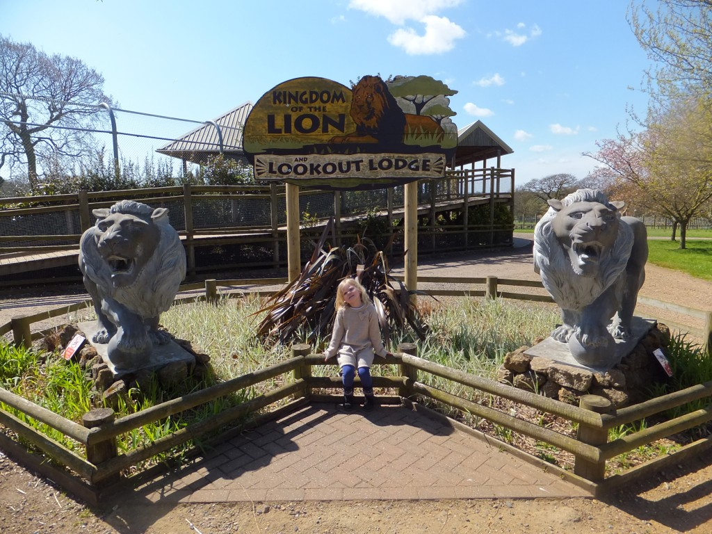 Eowyn outside Kingdom of the Lion at Africa Alive