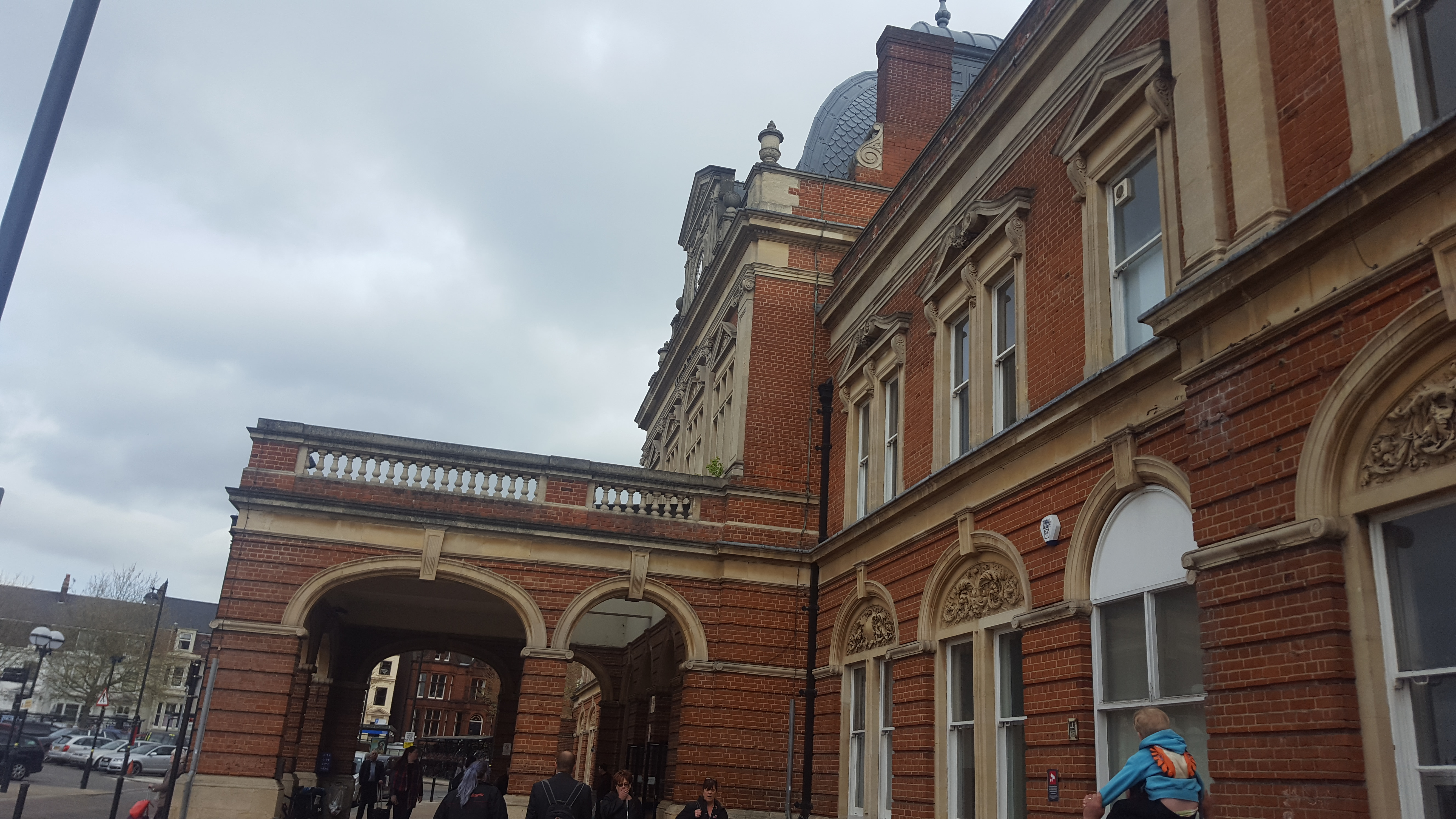Entrance to Norwich Station on our Rail Adventure