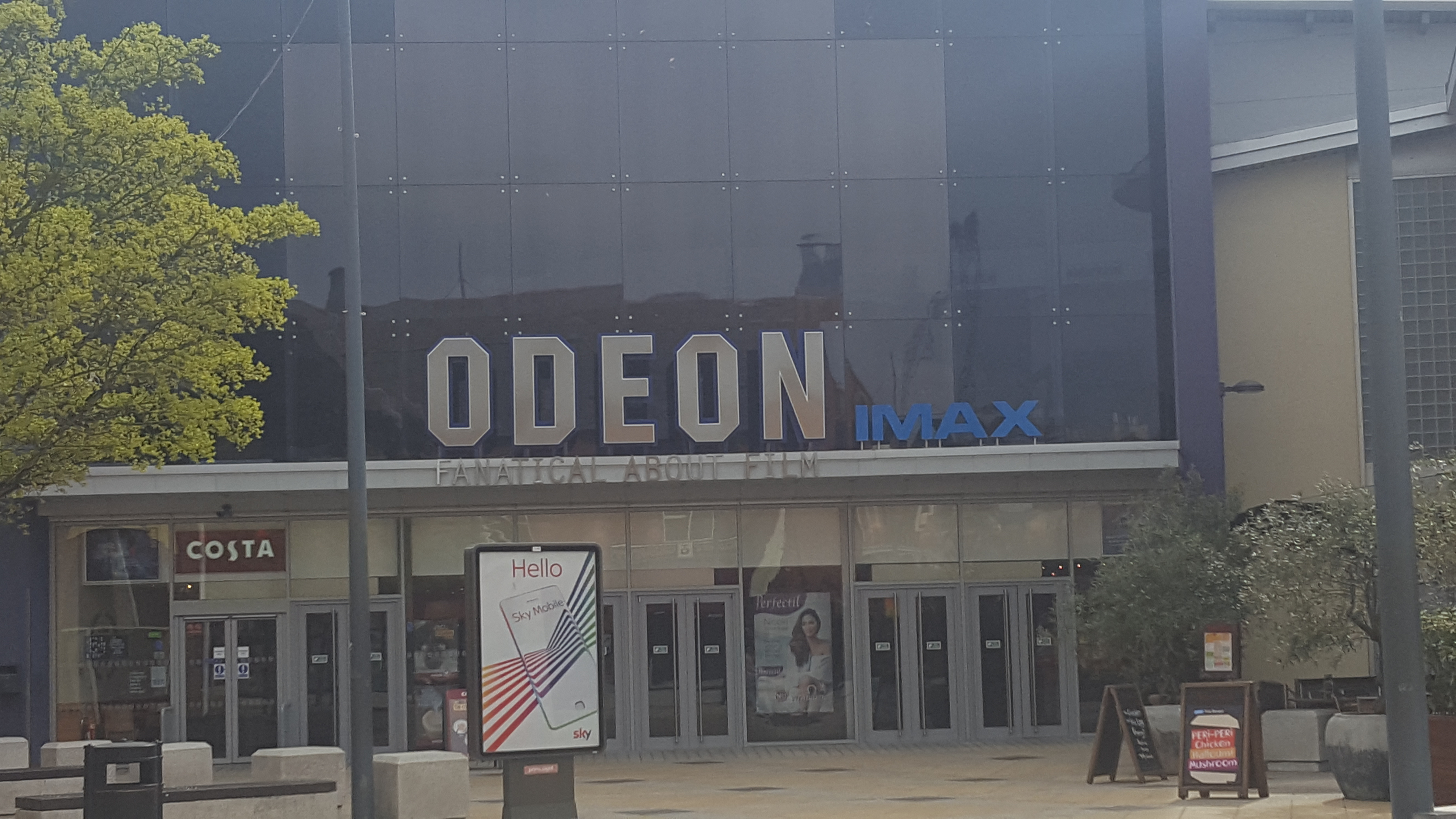 Front entrance to Odeon Cinema Norwich