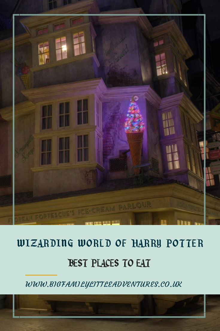 Check out the best restaurants/places to eat at Wizarding World of Harry Potter featuring many shops from the films