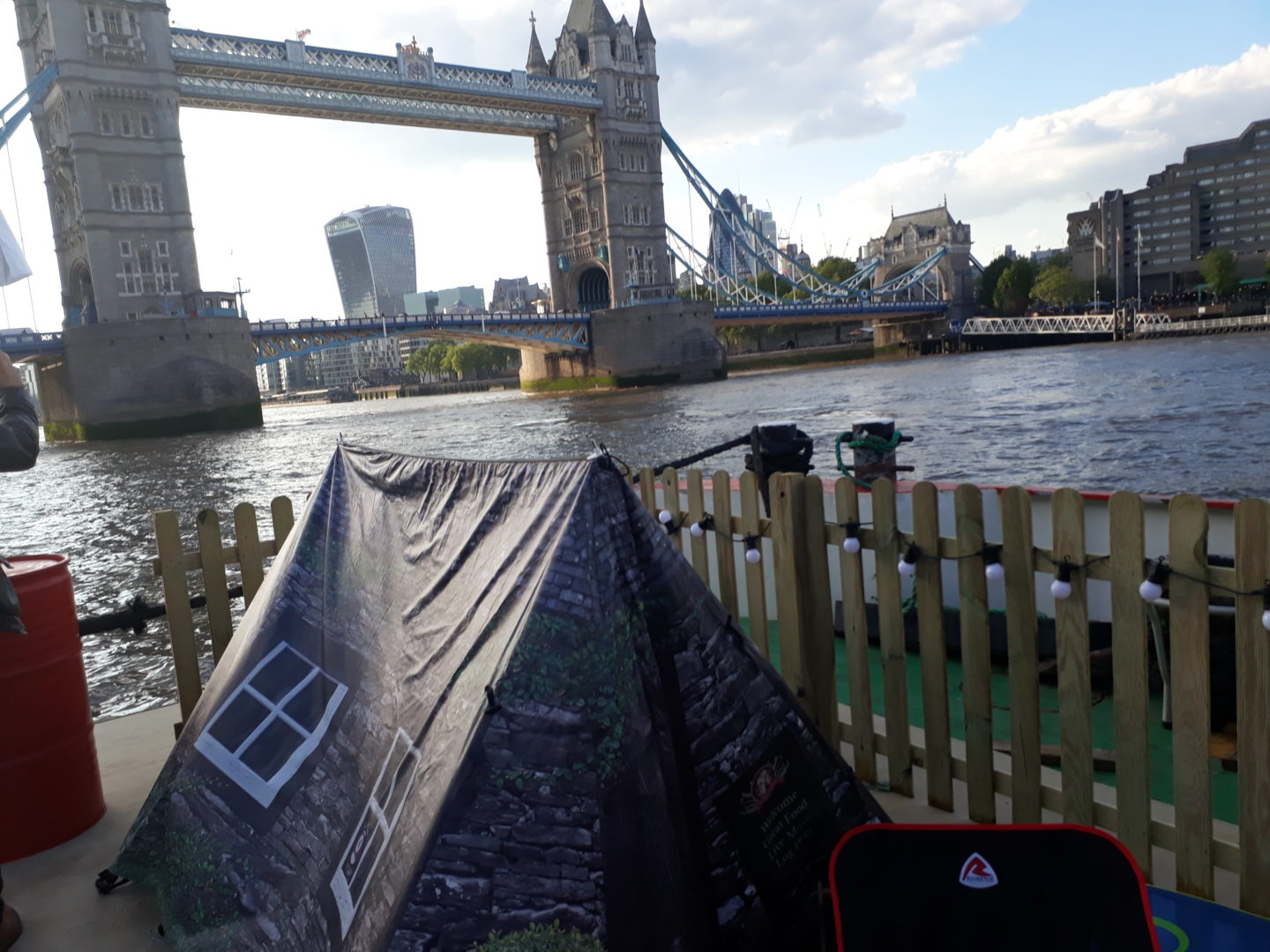 National Camping and Caravanning Week 2019 was launched with a floating campsite