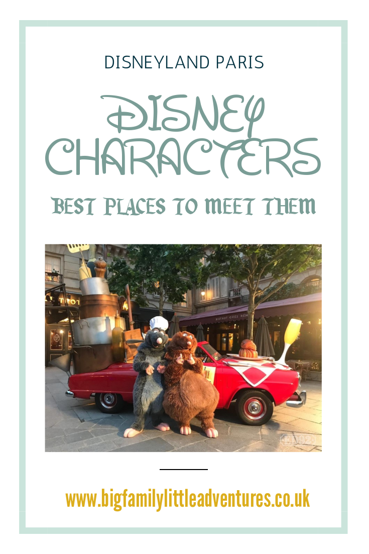 Where can I find Disney Characters at Disneyland Paris