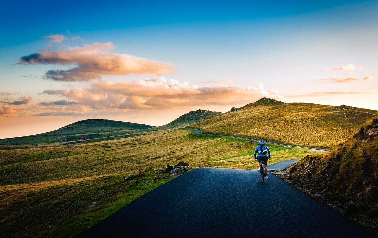 Cycling through mountain passes