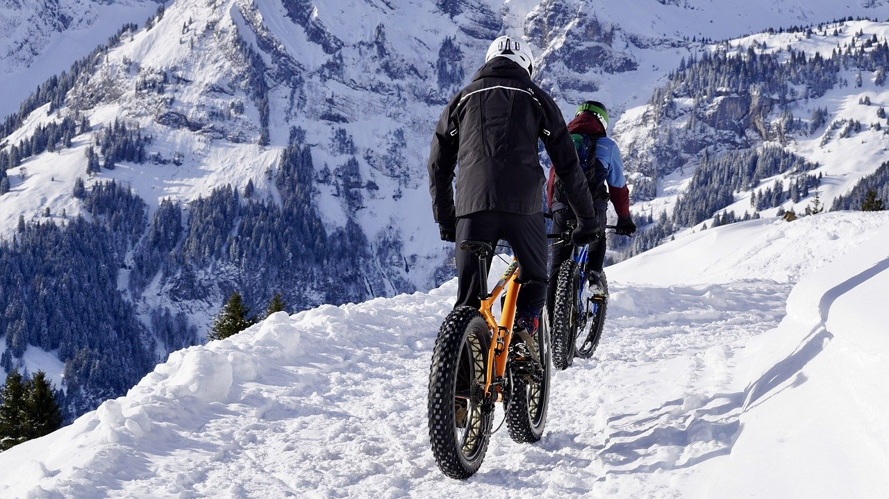 Cycling on Snowy Mountains
